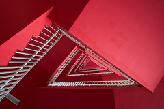 Spiral of Red (- Etude -) Tags: red abstract architecture spiral triangle singapore stair none pov sony staircase shape a7ii zachchang