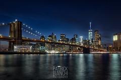 The Brooklyn Bridge (patchrick84) Tags: newyorkcity skyline brooklyn manhattan brooklynbridge eastriver bluehour janescarousel
