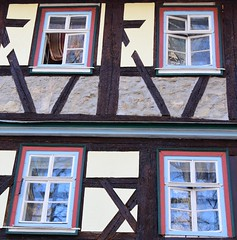 (:Linda:) Tags: reflection window stone germany four town open thuringia halftimbered themar