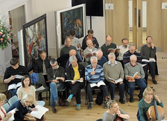 "02 ""Come and Sing"" choir and players from Ealing Symphony Orchestra rehearse Handel's Messiah. 16th April 2016. Conductor John Gibbons. Leader Jo Boswell. Ealing Green Church, London. (Paul Ealing 2011) Tags: green church john bill george alicia bass arnold johnson catherine f watson sing orchestra come april joanna 16 messiah alto symphony ealing milly knut eso conductor handel soprano tenor keel lovell gibbons 2016 pye 1759 1685 snobbig"