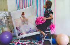 Party without a plan (elliftheartist) Tags: selfportrait fashion balloons fashionphotography surreal fineartphotography timwalker giantbooks surrealphotography conceptualphotography giantobjects timwalkerinspired elliftheartist