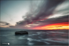 Comienzo (Caramad) Tags: longexposure sea seascape marina sunrise landscape mar agua rocks wave amanecer olas rocas cantabria wate marcantbrico islares matalete