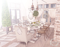 spring dinning (Luna Jubilee / !bang poses) Tags: design interior jubilee secondlife decorating bazar trompeloeil reverie lode consignment theloft zerkalo vegabond haikei applefall kalopsia scarlethudson cheekypea elibily