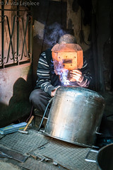 Kucukpazari 3 (aivitalejniece) Tags: city travel winter people tourism metal work turkey glasses factory mask welding weld stock working culture istanbul pots workshop worker turkish turk restores