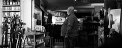 All the Pies (clickclickphotographyuk) Tags: street blackandwhite food white black tattoo market candid fat belly pies slob copyrightaaronjcollyer2016