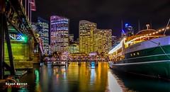 NightLights (RajeshMannanPhotography) Tags: sea reflection water night lights harbor harbour sydney australia nightlight