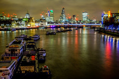 Thames London Skyline Reflections (Neal_T) Tags: city uk longexposure london skyline reflections river fuji cathedral norfolk stpauls norwich fujifilm londoncity walkietalkie themes riverthemes xt1