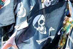 Skull and Crossbones (My photos live here) Tags: england holiday black west eos skull sussex seaside flag resort east eastbourne and crossbones caon 1000d