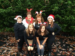 Holly's Group visited nursing homes at Christmas.