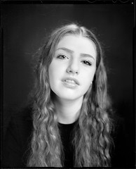 Ruby 3 (Mark.Seward) Tags: portrait white black film monochrome darkroom studio large scan 4x5 hp5 format ilford