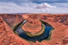 Big Hole (Russmosis) Tags: arizona nature landscape rocks day cloudy page coloradoriver horseshoebend theamericansouthwest