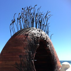Manscape - Tony Davis (Figgles1) Tags: sea sculpture cottesloe sculpturebythesea sculptures iphone 2016 img0742 tonydavis manscape