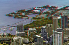 East & West Island 3-D ::: HDR/Raw Anaglyph Stereoscopy (Stereotron) Tags: sea urban lake toronto ontario canada architecture modern america radio canon lens eos stereoscopic stereophoto stereophotography 3d downtown raw control zoom contemporary north streetphotography twin sigma anaglyph stereo shore stereoview to remote spatial 70300mm hdr province redgreen tdot 3dglasses hdri transmitter stereoscopy synch anaglyphic optimized in threedimensional hogtown stereo3d thequeencity cr2 stereophotograph anabuilder thebigsmoke synchron redcyan 3rddimension 3dimage tonemapping 3dphoto 550d torontonian hyperstereo stereophotomaker 3dstereo 3dpicture anaglyph3d yongnuo stereotron