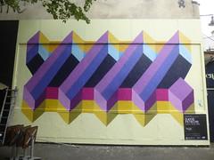 David Petroni au M.U.R. XI (avril 2016) (Archi & Philou) Tags: argentine ladder paintedwall murpeint chelle paris11 petroni murxi