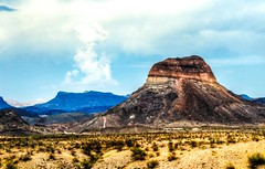 Cerro Castellan on the road to Santa Elena Canyon in Big Bend National Park