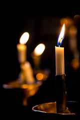 Church Candle (King Grecko) Tags: church canon fire eos focus candle bokeh depthoffield flame firestone lightroom 24105 5dmkiii eos5dmk3 lightnaturalphenomenon