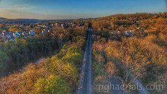 A beautiful spring sunset casts a warm light on the blooming trees. (AVPHOTOGRAPHICS_PGH) Tags: aerials phantom3 dji