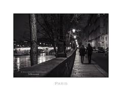 Paris n47 Ile Saint Louis (Nico Geerlings) Tags: nightphotography bridge paris france seine 50mm streetphotography pont summilux parijs ilesaintlouis quaidebourbon nicogeerlings leicammonochrom ngimages nicogeerlingsphotography