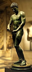 The Ephesian Apoxyomenos  (athlete scraping his body with a strigil). Bronze sculpture (mike catalonian) Tags: sculpture bronze fulllength copy ancientgreece apoxyomenos ancientrome polykleitos