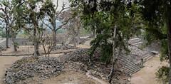 """Copan Ruinas: l'Acropole et la Place des Jaguars <a style=""""margin-left:10px; font-size:0.8em;"""" href=""""http://www.flickr.com/photos/127723101@N04/26549886895/"""" target=""""_blank"""">@flickr</a>"""
