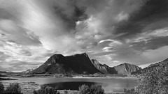 sometimes I wish I was a cloud (lunaryuna (off to Iceland for 2 weeks)) Tags: sky bw panorama mountains monochrome beauty weather norway clouds landscape coast blackwhite shore fjord lunaryuna cloudscape lofotenislands lightmood lofotenwall lofotenarchipelago
