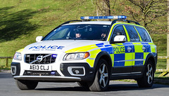 AE13CLJ (firepicx) Tags: uk blue lights volvo support arm police northumbria vehicle british emergency response firearms armed policing xc70 ae13clj