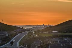 suburbian trails (pbo31) Tags: sanfrancisco california city sunset dublin orange west color skyline nikon view over bayarea april eastbay alamedacounty 2016 suburbian boury pbo31 d810