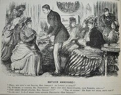 Rather Awkward! - Punch 1874 (AndyBrii) Tags: woodcuts satire punch wit engravings 1874