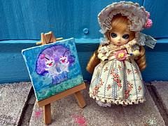 Finger Painting (Pullipprincess) Tags: cute painting toys doll dolls outdoor plastic kawaii groove bjd primula abs ai moogle mog balljointeddoll junplanning jpgroove kupo aidoll grooveinc aidollprimula