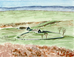 Buron aveyronnais (ybipbip) Tags: france watercolor painting paint aquarelle peinture watercolour acuarela paysage campagne landascape aquarell aveyron hameau acquerello akvarell akvarel