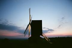 Brill windmill (Jim Davies) Tags: sunset film windmill 35mm fuji venus superia buckinghamshire olympus solstice analogue brill bucks mjuii stylusepic compactcamera 800asa colourfilm veebotique