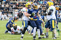 "GFL2 Hildesheim Invaders vs. Assindia Cardinals (Testspiel) 24.04.2015 006.jpg • <a style=""font-size:0.8em;"" href=""http://www.flickr.com/photos/64442770@N03/26674132175/"" target=""_blank"">View on Flickr</a>"