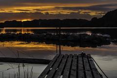 The sun coloring the clouds! (Vidar F) Tags: ocean sunset sea orange nature water norway clouds landscape evening norge natur vann skyer hav solnedgang rogaland vestlandet kveld landskap oransje egersund dalane
