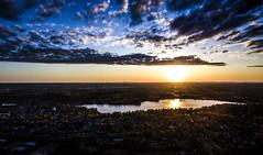 Wakefield, Massachusetts (TomBerrigan) Tags: sunset sun lake aerial phantom qu quannapowitt dji