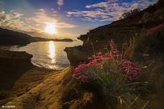 Spring (jopas2800) Tags: sunset sea espaa clouds rocks mediterrneo nikond610
