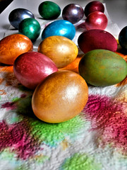 coloured eggs (seanfderry-studenna) Tags: food color colour easter interesting graphic egg dramatic vivid animated colourful striking orthodox picturesque lively arresting