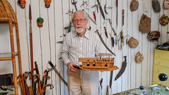 My museum (Tim Brown's Pictures) Tags: pakistan india model collections antiques knives kashmir swords artifacts modelboat modelhouseboat