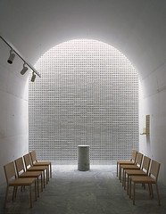 The New Crematorium. Photo by Ioana Marinescu (POET ARCHITECTURE) Tags: new light red brick art luz cemetery wall architecture forest woodland poetry stockholm sensitive poetic architect poet land environment spiritual crematorium johan spaces celsing 2013 arkitektkontor