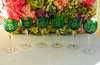 AJKA Bohemian Cut to Clear Crystal Wine Hocks Emerald Green (Donna's Collectables) Tags: green wine bohemian ajka hocks emeral