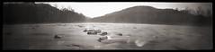 Cheat River (Wide View) (DRCPhoto) Tags: bw kodak panoramic pinhole 120film westvirginia 400 portra cheatriver lenslessphotography 6x24