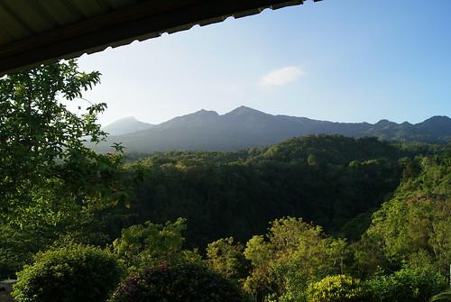 Lombok.271 Senaru. Sunrise over Mt Rinjani