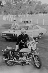 Honda Motor cycle and Ford sedan (Dermis50) Tags: honda australia victoria solo motorcycle historical units policing victoriapolice fordsedan dermiscollection
