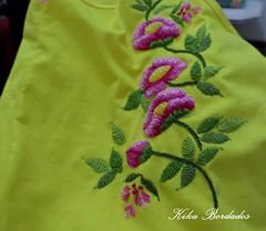 KikaBordados Kika  Krauss 065 (Kika Bordados by Angelica Krauss) Tags: pink flowers flores handmade embroidery laranja crochet tshirt amarelo bordados manualidades croche embroider feitomo camisetabordada camisetabordadamo bordadosfeitomo kikabordadoskikakrauss