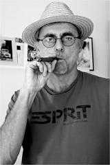 P-O Alfredsson (P-O Alfredsson) Tags: portrait hat gteborg sweden cigar sverige hatt tobacco portrtt tobak cigarr gothenbueg helenaklarn poalfredsson