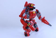 The Firefighter (BigDamnHero2511) Tags: red lego robots firefighting firefighter mecha mech moc smallscale miniscale