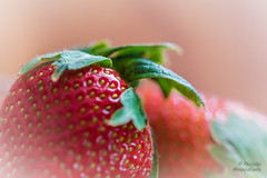 Strawberry ReEdit (PhotoArtMarie) Tags: red macro green leaves strawberry