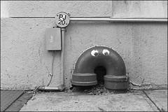 L1023162 B&W (Damien DEROUENE) Tags: street leica nyc urban newyork pipe mm fragment damienderouene