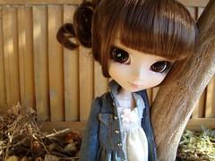 Llegadas - Midori / La robe vert clair (Lunalila1) Tags: cosette outfit doll dress handmade robe denim groove pullip verte midori llegadas beauvoir fukasawa junplaning
