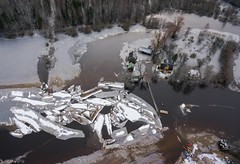 Ice jam on river Raudna (BlizzardFoto) Tags: ice water flood aerialphotography vesi j icejam soomaa aerofoto leujutus karuskose soomaanationalpark soomaarahvuspark viiesaastaaeg raudnajgi jminek riverraudna
