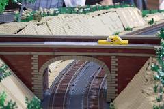 Victorian Trains Display (13) (Bricktease) Tags: bridge trees scale car station barn train model lego display australian victorian rail australia melbourne trains victoria silo replica minifig holden moc afol 2016 brickvention